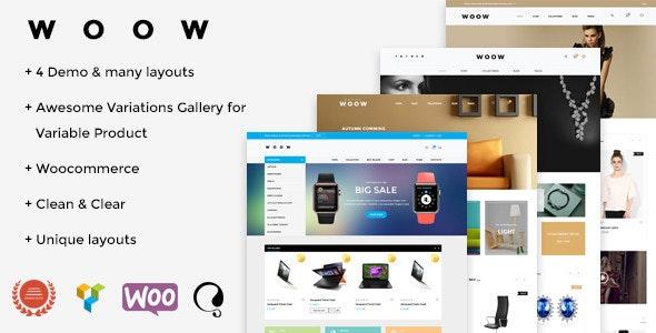 WOOW - Responsive WooCommerce Theme - WooCommerce eCommerce