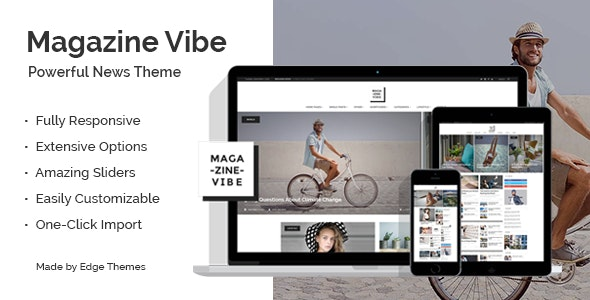 Magazine Vibe - Newspaper Theme - News / Editorial Blog / Magazine