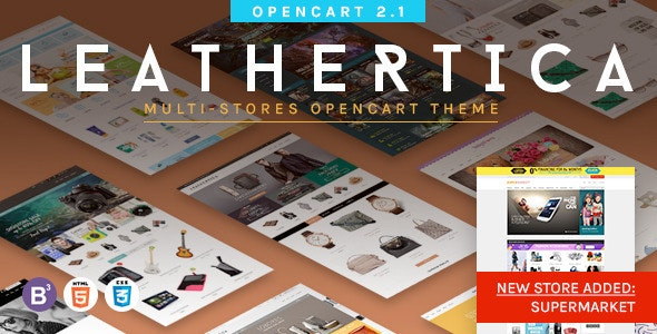 Leather - Premium OpenCart Themes Package - Shopping OpenCart