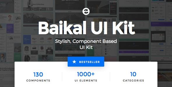 Baikal UI Kit - Huge Set Of UI Components - Creative Sketch