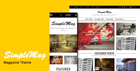 SimpleMag - Magazine Drupal 7 and 8 Theme - Blog / Magazine Drupal