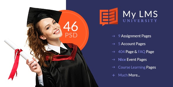 My LMS - Education & Campus PSD Template - Business Corporate