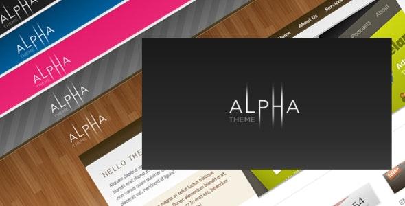 Alpha Theme - Creative Site Templates