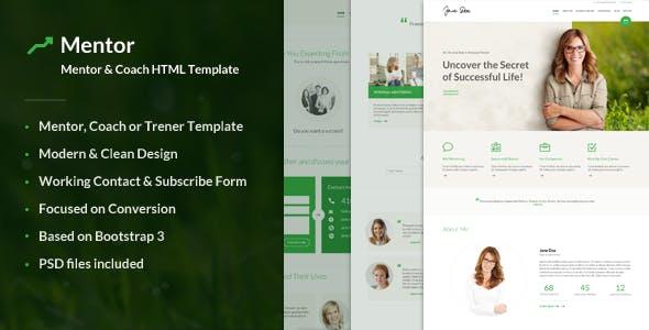 Mentor - Personal Development Coach HTML Template
