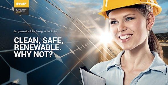 Solar - Renewable energy PSD template