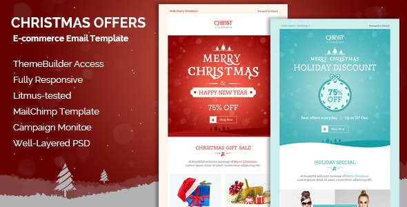 Christmas Offers E-Newsletter + Builder Access - Email Templates Marketing