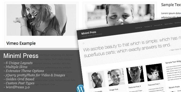 Miniml Press - Blog / Magazine WordPress