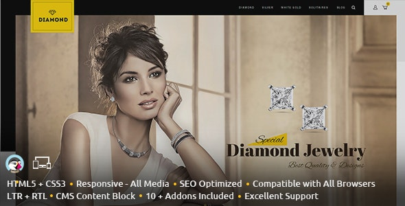 Diamond - Prestashop Responsive Theme - Fashion PrestaShop