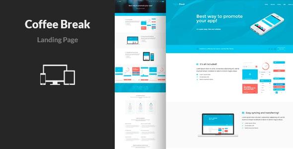 Coffee Break - App Landing Page Template - Apps Technology