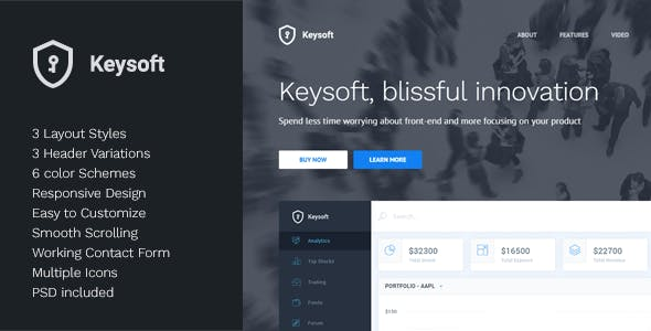 KeySoft - Software Landing Page