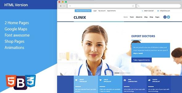 CLINIX - Medical HTML Template - Health & Beauty Retail