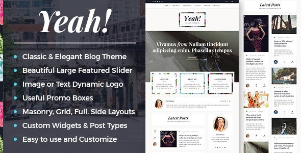Yeah! - A Responsive Elegant WordPress Blog Theme - Personal Blog / Magazine