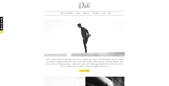 Didi - Fashion Blog WordPress Theme