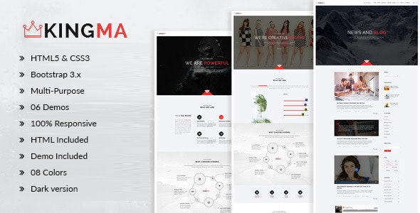 KingMa | Creative Business Onepage Drupal 7.6 Theme - Creative Drupal