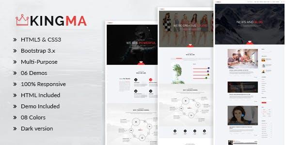 KingMa | Creative Business Onepage Drupal 7.6 Theme