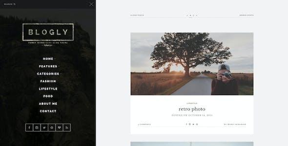 Blogly - Fancy PSD Blog Template