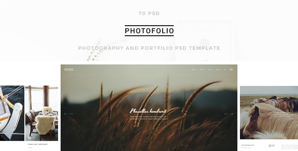 Photofolio - Photography & Portfolio PSD Template - Photography Creative
