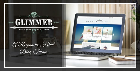 Glimmer - A Responsive HTML Blog Theme - Personal Site Templates