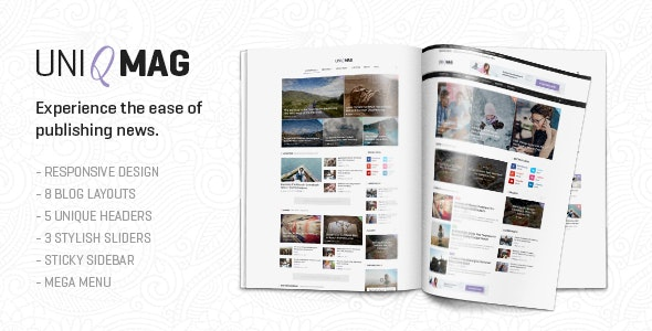 UniqMag - Ease of Publishing News - Technology Site Templates