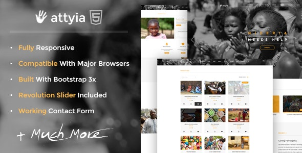 Attyia - Creative NGO and Charity WordPress Theme - Charity Nonprofit