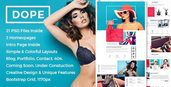 Dope - Creative Photography Portfolio PSD Template - Photography Creative