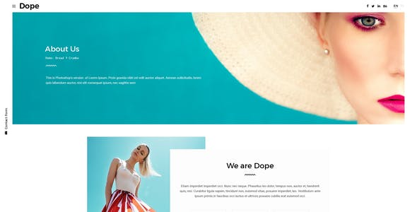 Dope - Creative Photography Portfolio PSD Template
