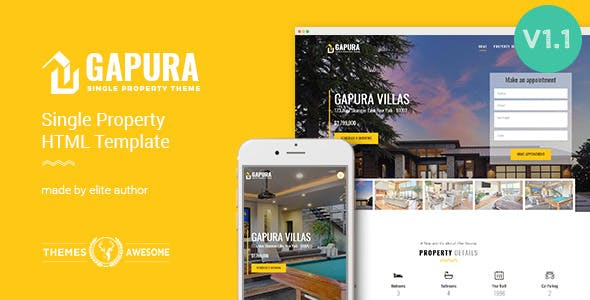 Single Property HTML Template - Gapura