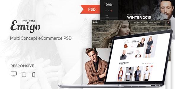 Emigo - Multi Concept eCommerce PSD Template - Fashion Retail