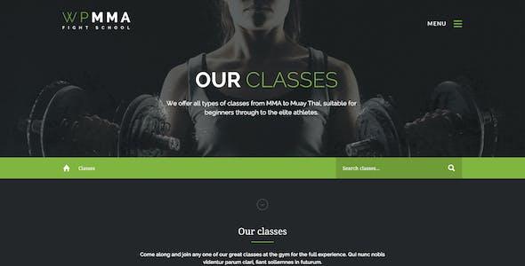 WP MMA - Gym & Fitness PSD