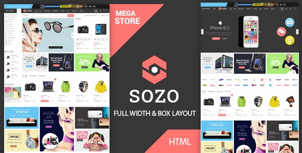 Sozo - Fashion Electronics Store HTML Template - Shopping Retail