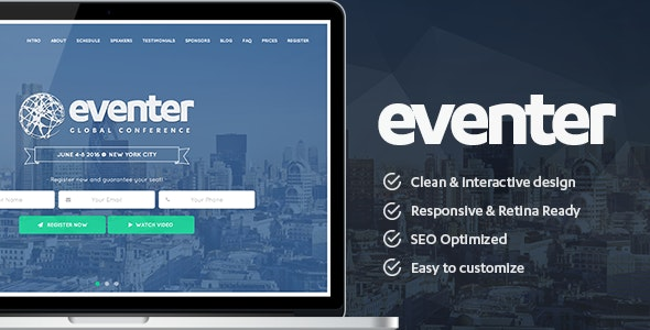 Eventer - Event and Conference WordPress Theme - Events Entertainment