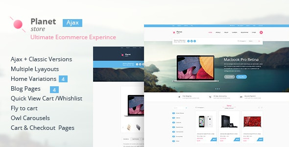 Planet Store - Ecommerce HTML Template - Shopping Retail