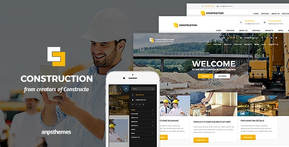 Construction - Business HTML5 Template - Corporate Site Templates