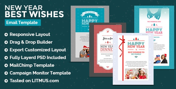 Christmas & New Year Newsletter + Builder Access - Email Templates Marketing
