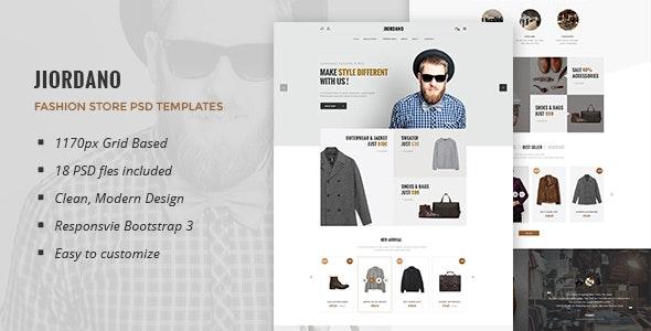 Jiordano - Multipurpose eCommerce PSD Template - Retail Photoshop