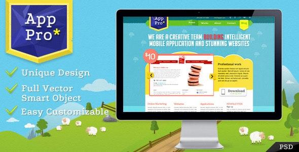 App Pro PSD Template - Portfolio Creative