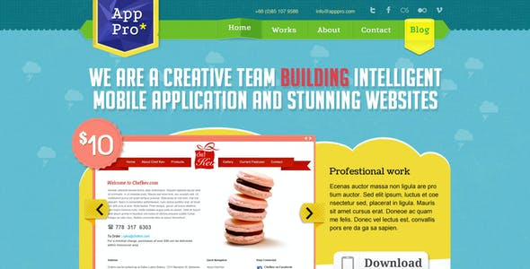 App Pro PSD Template