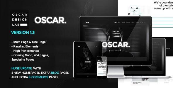 Oscar - Minimal Multipurpose Parallax One Page Template - Portfolio Creative