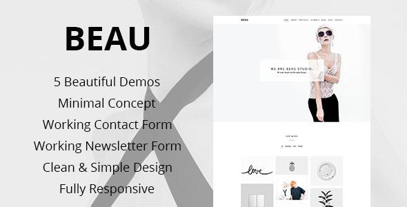 Beau - Minimal Portfolio / Agency HTML Theme - Portfolio Creative