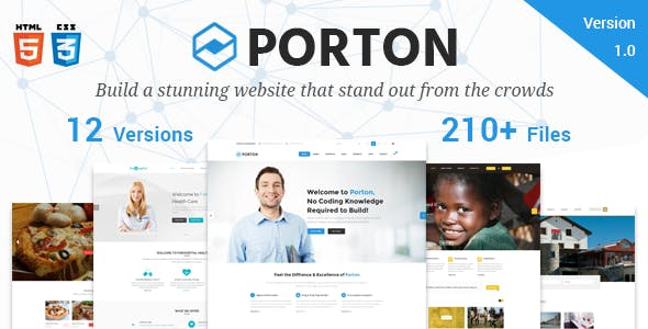Porton   Responsive Multi-Purpose HTML5 Template