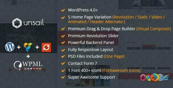 Unsail One Page WordPress Parallax Theme - Portfolio Creative