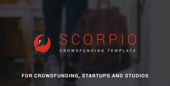 Scorpio: Crowdfunding and Startup PSD Theme - Marketing Corporate