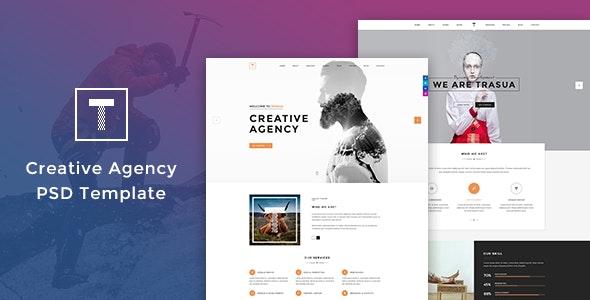 Trasua - Creative Agency PSD Template - Creative Photoshop