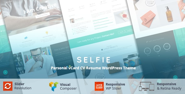 Selfie - Personal vCard CV Portfolio WP Theme - Portfolio Creative