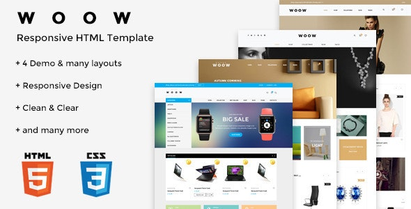 WOOW - HTML eCommerce Template - Retail Site Templates