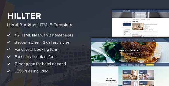 Hillter - Hotel Booking HTML5 Template - Travel Retail