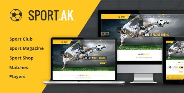 Sport.AK — Soccer Club and Sport Joomla Template