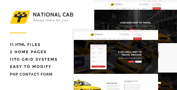 Taxi Cab - Responsive HTML Template