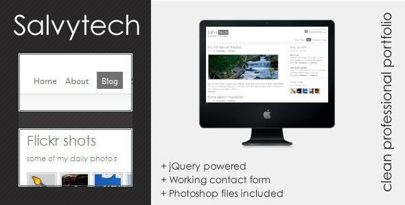 Salvytech - Clean professional template - Creative Site Templates