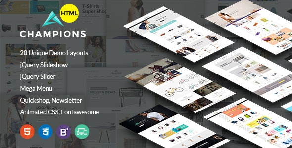 Champion -  MultiPurpose eCommerce HTML5 Template - Retail Site Templates